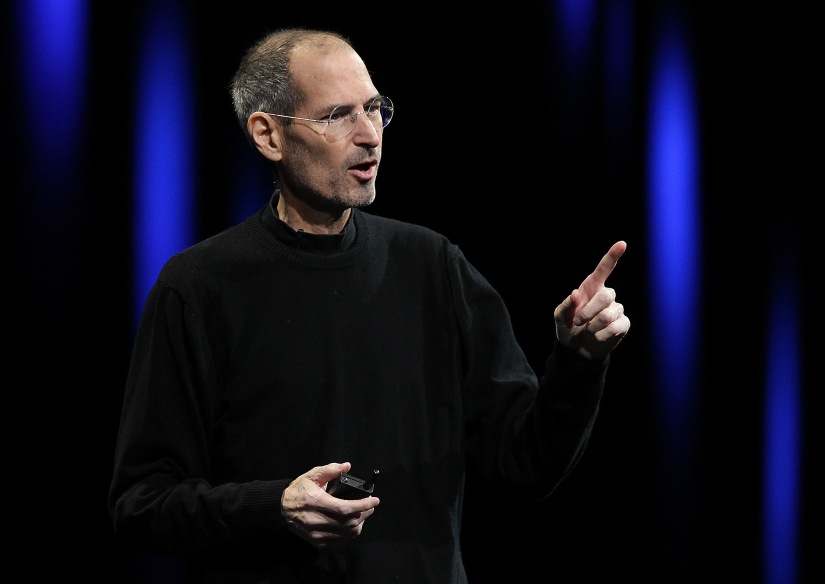 A typical Steve Jobs keynote. In this photo, he was introducing the iCloud service.