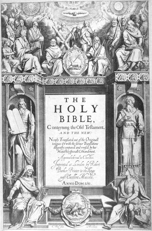Halaman awal Alkitab Raja James yang terbit pada 1611