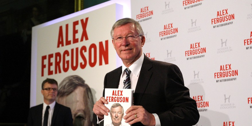 LONDON, ENGLAND - OCTOBER 22:  Sir Alex Ferguson attends a press conference to announce the release of his autobiography 'Alex Ferguson: My Autobiography' at The Institute of Directors on October 22, 2013 in London, England.  (Photo by Danny Martindale/WireImage)