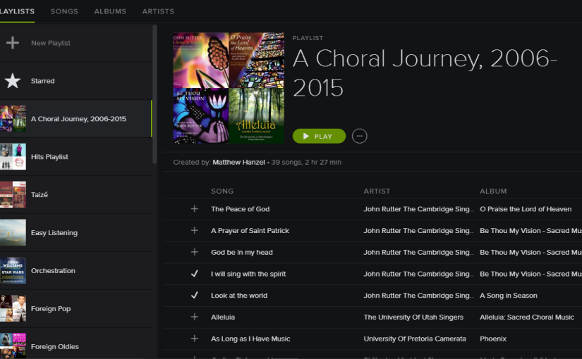A Choral Journey: APlaylist