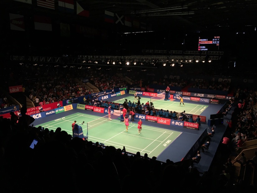 The most hostile place to watch badmintonis…